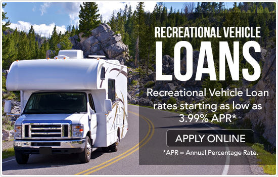 RV Loans. Rates as low as 3.99% APR*.